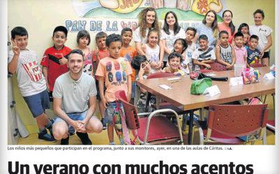 Reportaje sobre la ludoteca de verano de Cáritas Calahorra