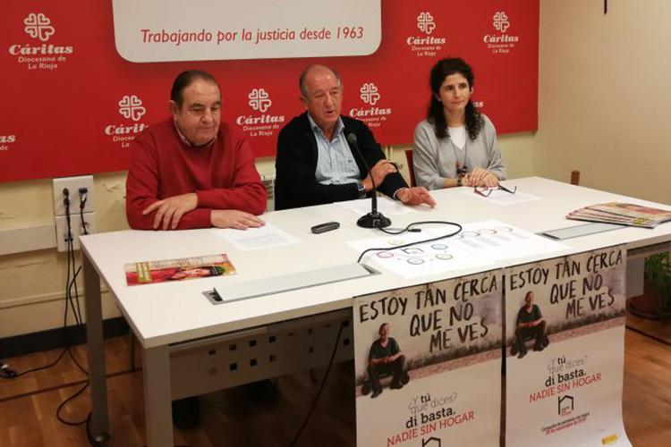 """Cáritas La Rioja presenta la campaña """"¿Y tú qué dices? Di basta. Nadie sin hogar"""""""