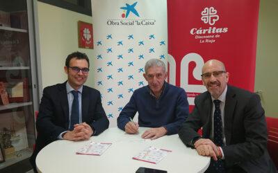 CaixaBank contribuye con 2.400 euros a la renovación del sistema de iluminación de Cáritas La Rioja