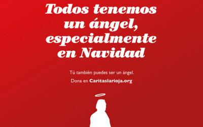 Cáritas La Rioja invita esta Navidad a ser ángeles que se movilizan para proteger, servir y defender a los más pobres