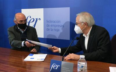 La FER y Cáritas La Rioja colaborarán en la integración sociolaboral de personas en situación de vulnerabilidad agravada por la pandemia
