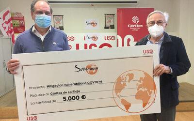 Sotermun aporta 5.000 euros al Fondo Común y de Solidaridad de Cáritas La Rioja