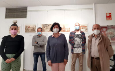 Exposición pictórica de Alejandro Espiga en Cenicero a beneficio de Cáritas La Rioja