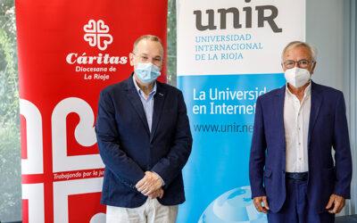 UNIR impulsará la digitalización y la formación de Cáritas La Rioja