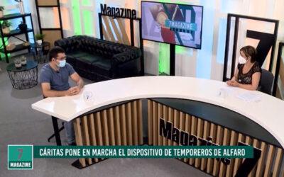 Reportaje y entrevista sobre el dispositivo de atención a temporeros en 7 TV