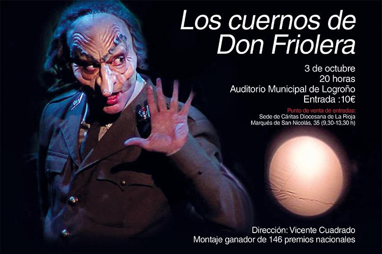 La Garnacha Teatro actuará el 3 de octubre a beneficio de Cáritas La Rioja en el Auditorio Municipal de Logroño